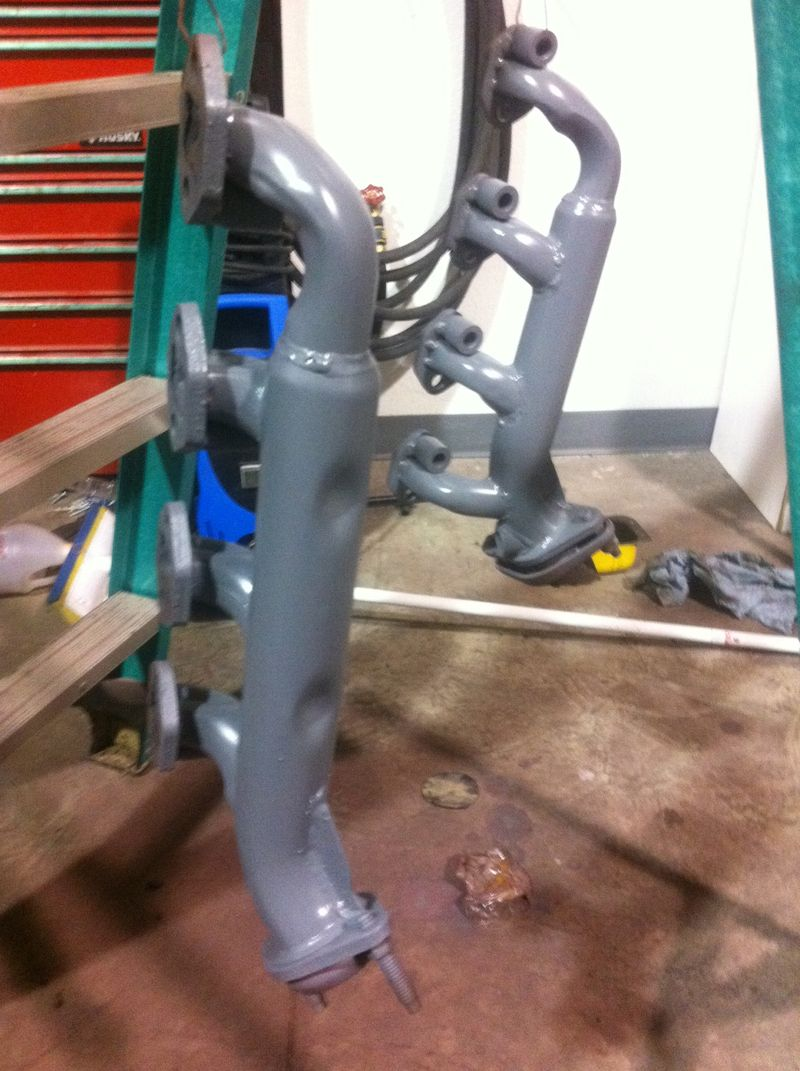 Exhaust manifolds painted