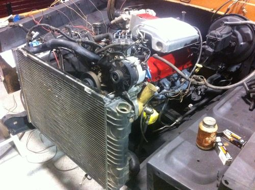 Radiator installed
