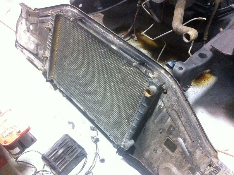 Radiator mounted