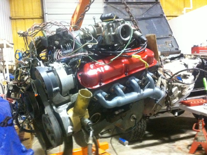 Clean & painted engine